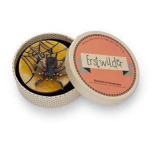 Erstwilder itsy bitsy spider brooch Halloween